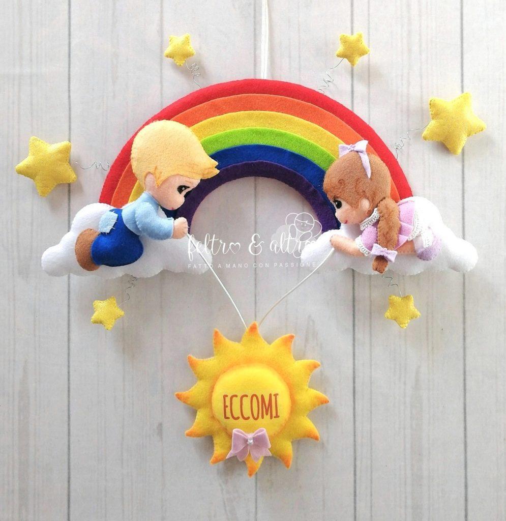 Fiocco Nascita Arcobaleno.Due Fiocchi Nascita Pieni Di Ottimismo E Speranza